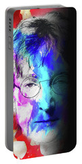Portable Battery Charger featuring the digital art Lennon by John Haldane
