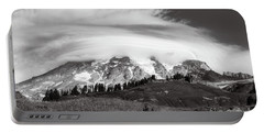 Lenticular Cloud Over Mt Rainier Portable Battery Charger
