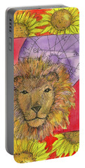 Portable Battery Charger featuring the painting Leo by Cathie Richardson