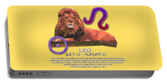 Leo Sun Sign Portable Battery Charger by Shelley Overton