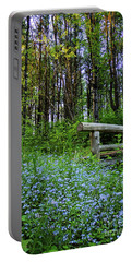 Portable Battery Charger featuring the photograph Leon Gorman Park Trail, Freeport, Maine  #50600 by John Bald