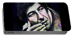 Leonard Cohen - Drawing Tribute Portable Battery Charger