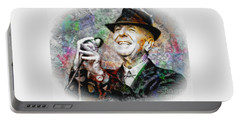 Leonard Cohen - Tribute Painting Portable Battery Charger