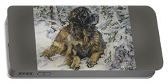 Leonberger In The Snow Portable Battery Charger
