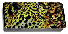 Leopard Abstract  Portable Battery Charger by David Mckinney