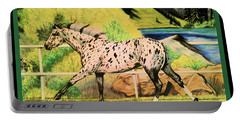 Leopard Appaloosa - Dream Horse Series Portable Battery Charger by Cheryl Poland