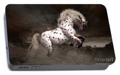 Portable Battery Charger featuring the digital art Leopard Appaloosa Shiloh by Shanina Conway
