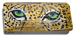 Leopard Eyes Portable Battery Charger by Ann Michelle Swadener