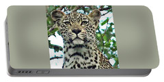 Leopard Face Portable Battery Charger