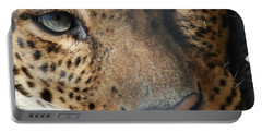 Portable Battery Charger featuring the photograph Leopard Face by Richard Bryce and Family