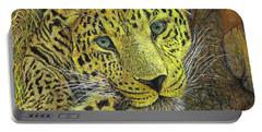Leopard Gaze Portable Battery Charger