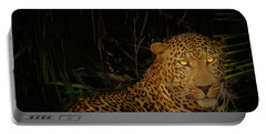 Leopard Hiding Portable Battery Charger