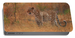 Leopard In African Bush Portable Battery Charger