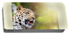 Leopard In Sunlight Portable Battery Charger
