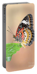 Leopard Lacewing Butterfly #2 V2 Portable Battery Charger
