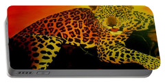Leopard On A Tree Portable Battery Charger