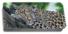 Leopard On Branch Portable Battery Charger