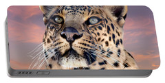 Leopard Portrait Number 3 Portable Battery Charger