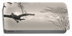 Leopard Resting On A Tree Portable Battery Charger