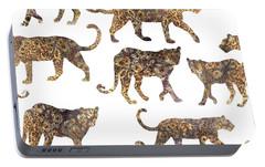 Leopards Portable Battery Charger by Varpu Kronholm