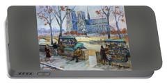 Les Bouquinistes, Seine, Paris Portable Battery Charger