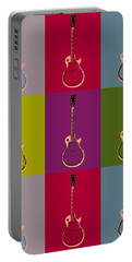 Les Paul Colorful Poster Portable Battery Charger by Dan Sproul