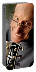 Les Paul With Gibson Headstock By Gene Martin Portable Battery Charger