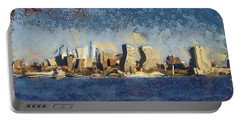 Less Wacky Philly Skyline Portable Battery Charger by Trish Tritz