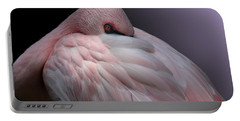 Lesser Flamingo Resting Portable Battery Charger