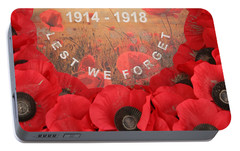 Portable Battery Charger featuring the photograph Lest We Forget - 1914-1918 by Travel Pics