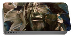 Portable Battery Charger featuring the painting Let Go The Anchor by Kicking Bear Productions