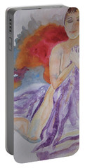 Portable Battery Charger featuring the painting Let It Burn by Beverley Harper Tinsley