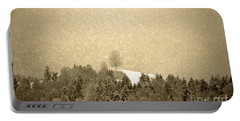 Portable Battery Charger featuring the photograph Let It Snow - Winter In Switzerland by Susanne Van Hulst