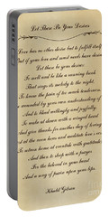 Let These Be Your Desires By Khalil Gibran Portable Battery Charger