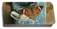Let Your Spirit Fly Free- Butterfly Nature Art Portable Battery Charger