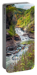 Letchworth Lower Falls In Autumn Portable Battery Charger
