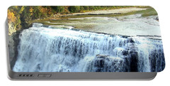 Letchworth State Park Middle Falls Autumn Portable Battery Charger