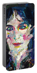 Portable Battery Charger featuring the painting Let's Feel Alive by Fabrizio Cassetta