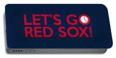 Let's Go Red Sox Portable Battery Charger