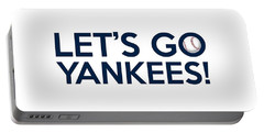 Let's Go Yankees Portable Battery Charger by Florian Rodarte