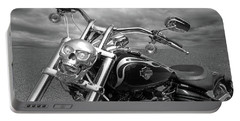 Portable Battery Charger featuring the photograph Let's Ride - Harley Davidson Motorcycle by Gill Billington