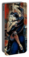 Portable Battery Charger featuring the digital art Let's Tango by Pennie McCracken