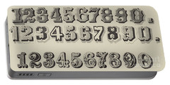 Letters And Numbers Portable Battery Charger