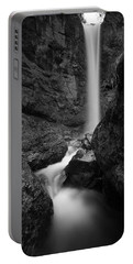 Leuenfall In Black And White Portable Battery Charger