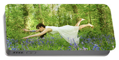 Levitation In The Bluebells Portable Battery Charger