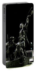 Lewis And Clark Arrive At Laclede's Landing Portable Battery Charger by Kelly Awad