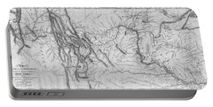 Portable Battery Charger featuring the painting Lewis And Clark Hand-drawn Map Of The Unknown 1804 by Lewis And Clark