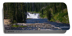 Lewis Falls Yellowstone Portable Battery Charger by Jennifer White