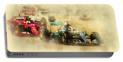 Lewis Hamilton Leads Again Portable Battery Charger
