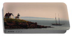 Lewis R French At The Curtis Island Lighthouse Portable Battery Charger